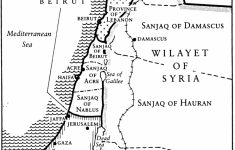 Printable Map Of Israel