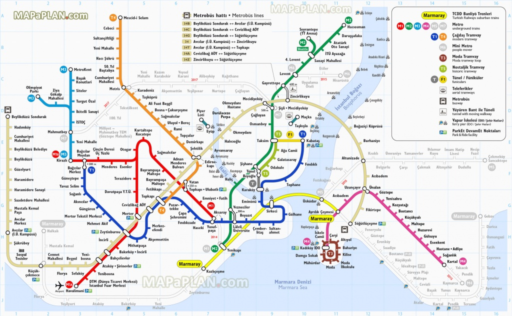 Istanbul Maps Top Tourist Attractions Free Printable City Best Of - Free Printable City Maps