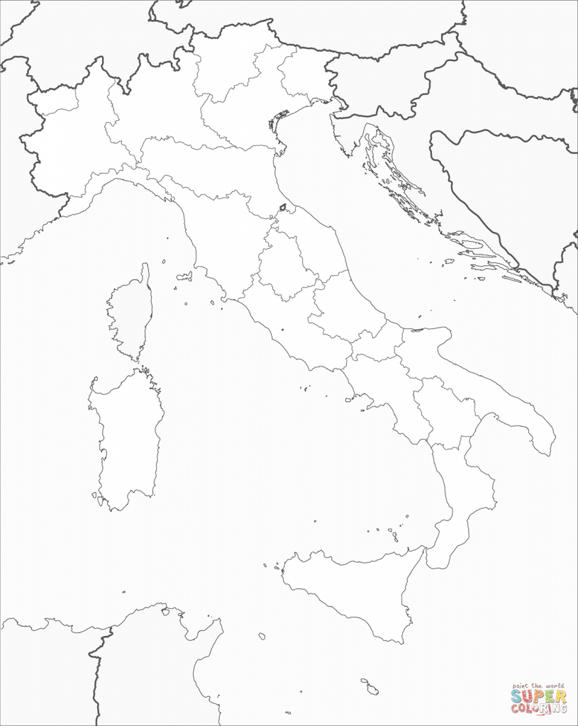 Italy Map Coloring Page | Free Printable Coloring Pages - Printable Map Of Italy To Color
