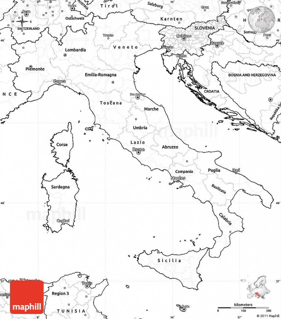 Italy Map Printable And Travel Information | Download Free Italy Map - Printable Map Of Italy To Color
