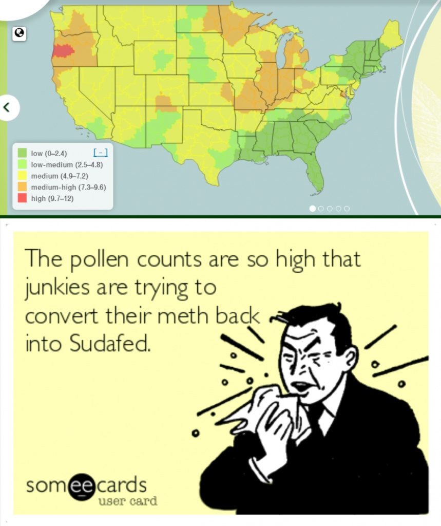 It's Allergy Season In Meth Country! - Album On Imgur - Florida Pollen Map