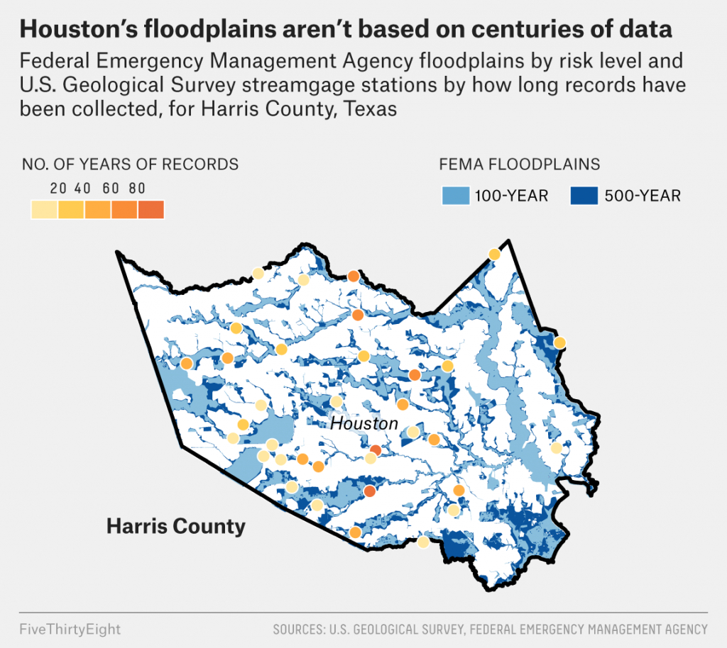 It's Time To Ditch The Concept Of '100-Year Floods'   Fivethirtyeight - 100 Year Floodplain Map Texas