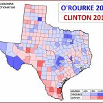 """J. Miles Coleman On Twitter: """"here's A Comparison Between Hillary   Map Beto For Texas"""