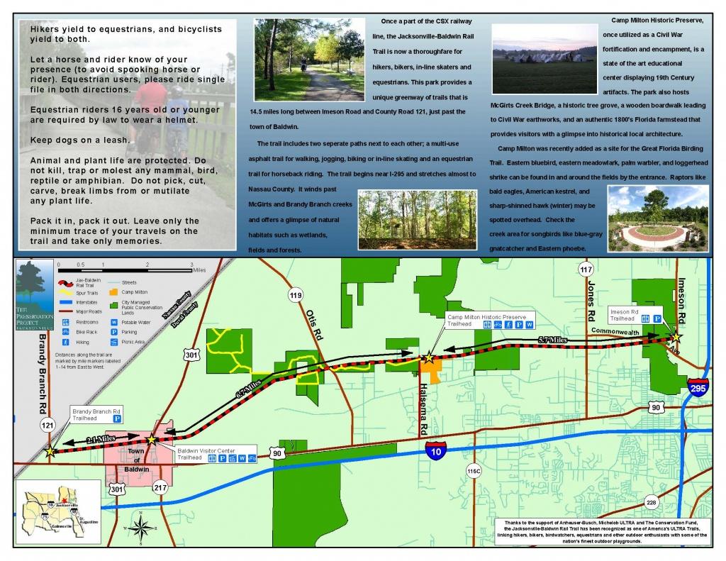 Jacksonville-Baldwin Rail Trail | Timucuan Parks Foundation - Rails To Trails Florida Map