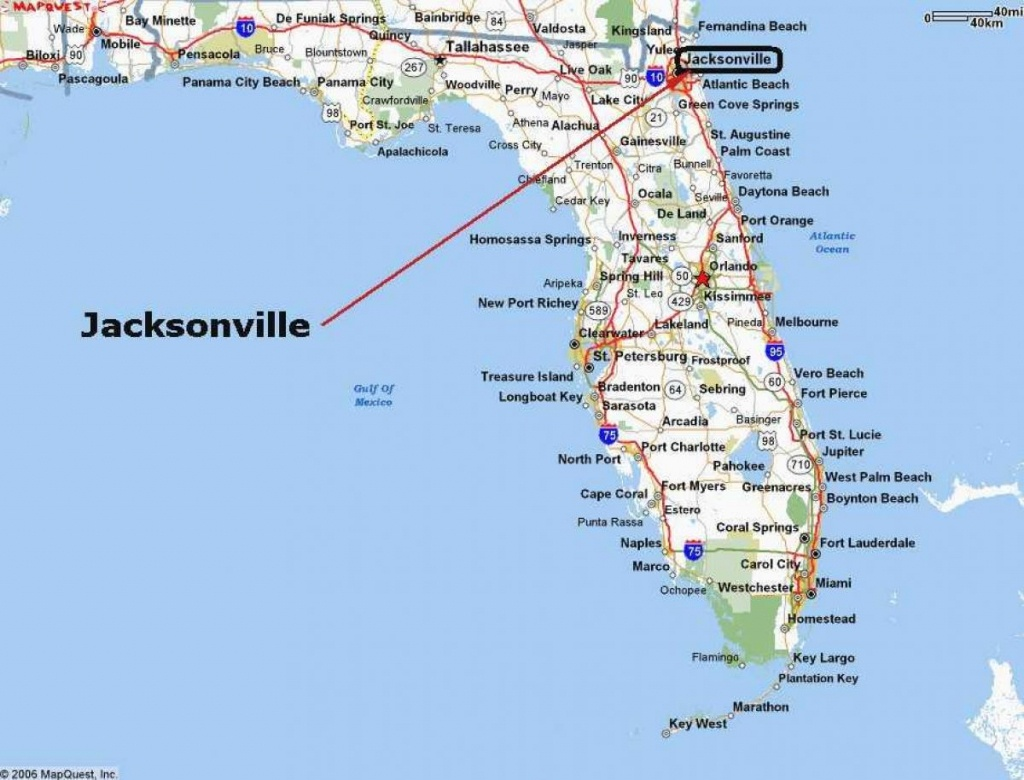 Jacksonville Florida Map - Jacksonville Usa Map (Florida - Usa) - Where Is Port Charlotte Florida On A Map