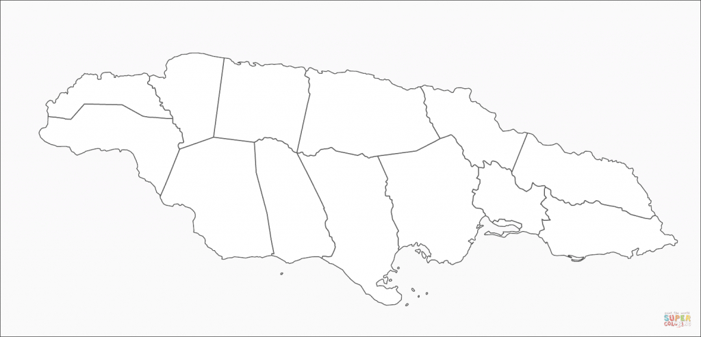 Jamaica Map Coloring Page | Free Printable Coloring Pages - Free Printable Map Of Jamaica