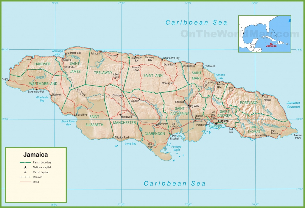 Jamaica Maps | Maps Of Jamaica - Printable Map Of Jamaica