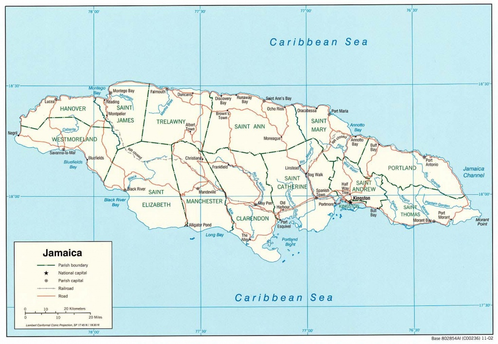 Jamaica Maps | Printable Maps Of Jamaica For Download - Printable Map Of Jamaica