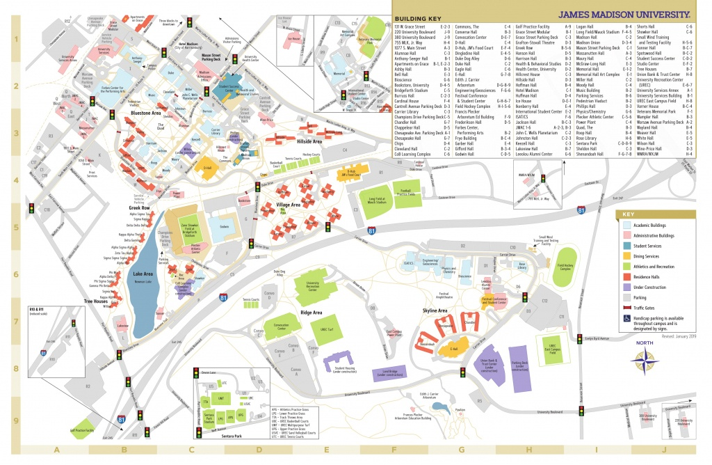 James Madison University - Campus Map - Duke University Campus Map Printable