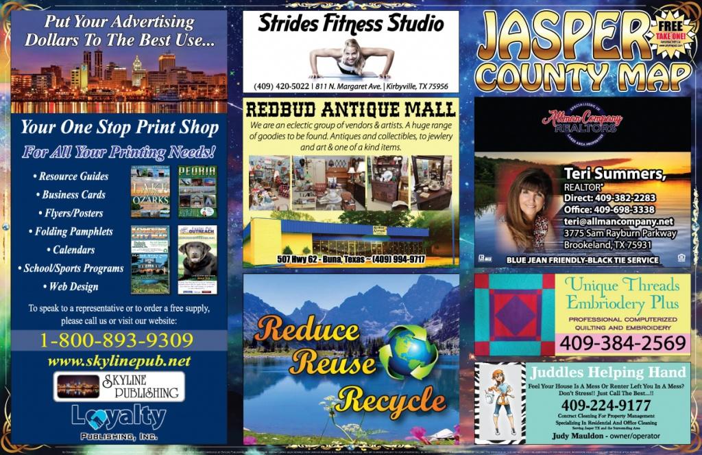 Jasper County Tx Map - Skyline Publishing - Jasper County Texas Parcel Map