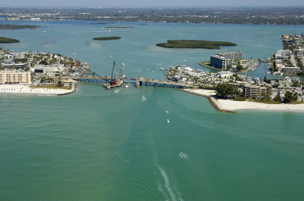 Johns Pass Inlet In Treasure Island, Fl, United States - Inlet - Johns Pass Florida Map