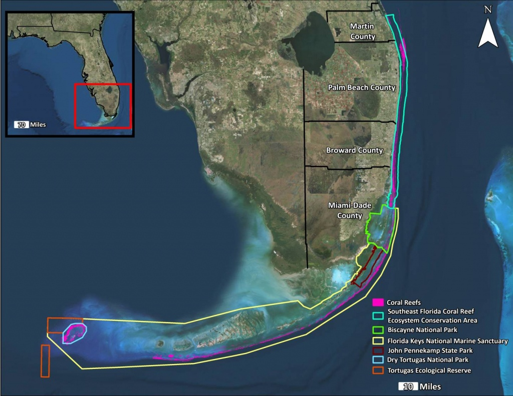 Join Project Protect - Force Blue - Coral Reefs In Florida Map