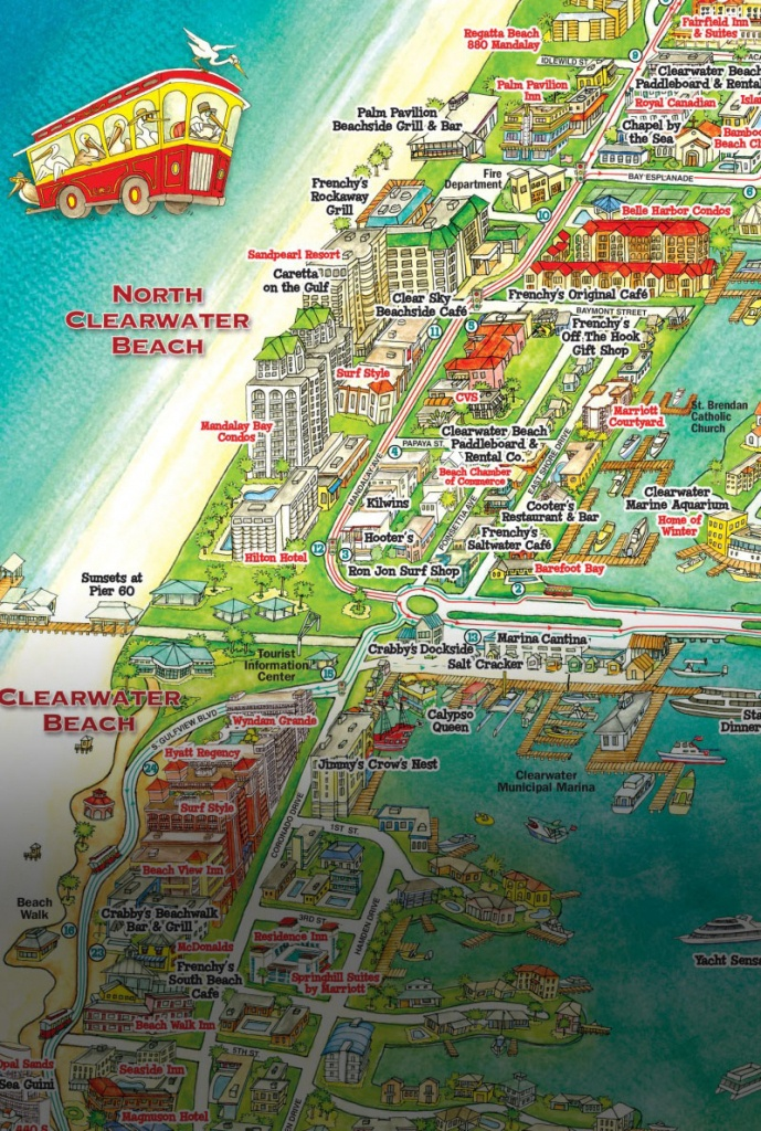 Jolley Trolley – Welcome Aboard Clearwater Jolley Trolley! - Map Of Hotels On St Pete Beach Florida