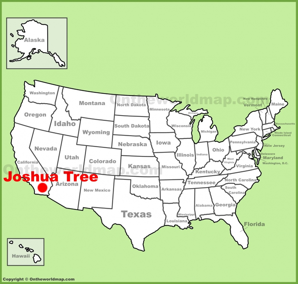 Joshua Tree Location On The U.s. Map - Joshua Tree California Map