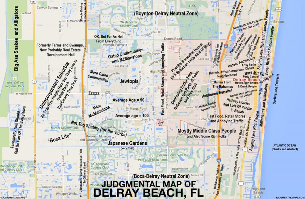 Judgmental Maps — Delray Beach, Flel Jefe Copr. 2015 El Jefe. - Del Ray Florida Map