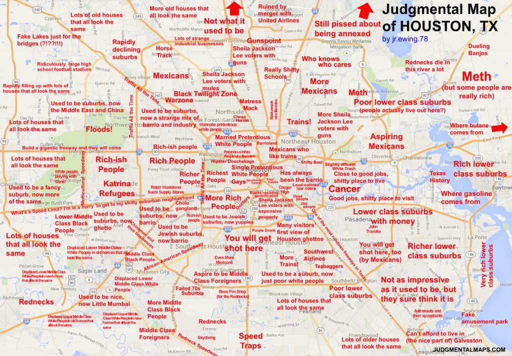 Judgmental Maps — Houston, Txjr.ewing.78 Copr. 2014 - Show Map Of Houston Texas