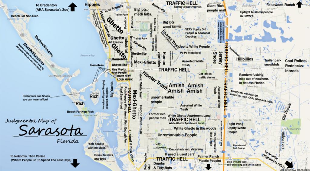 Judgmental Maps — Sarasota, Fltony Copr. 2014 Tony. All Rights - Map Sarasota Florida Usa