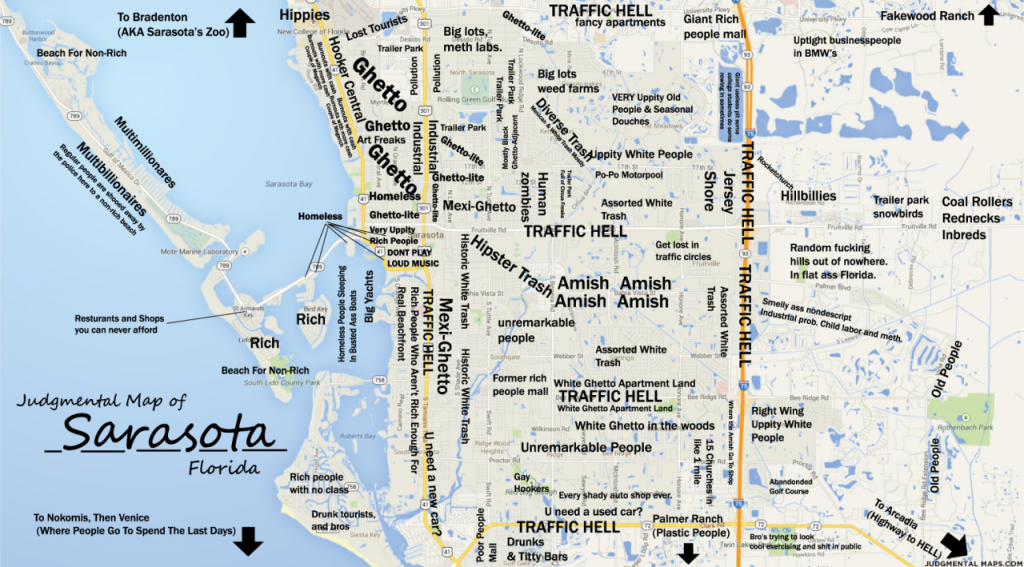 Judgmental Maps — Sarasota, Fltony Copr. 2014 Tony. All Rights - Sarasota Bradenton Florida Map