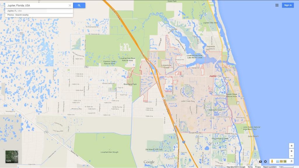 Jupiter Florida Map - Jupiter Beach Florida Map