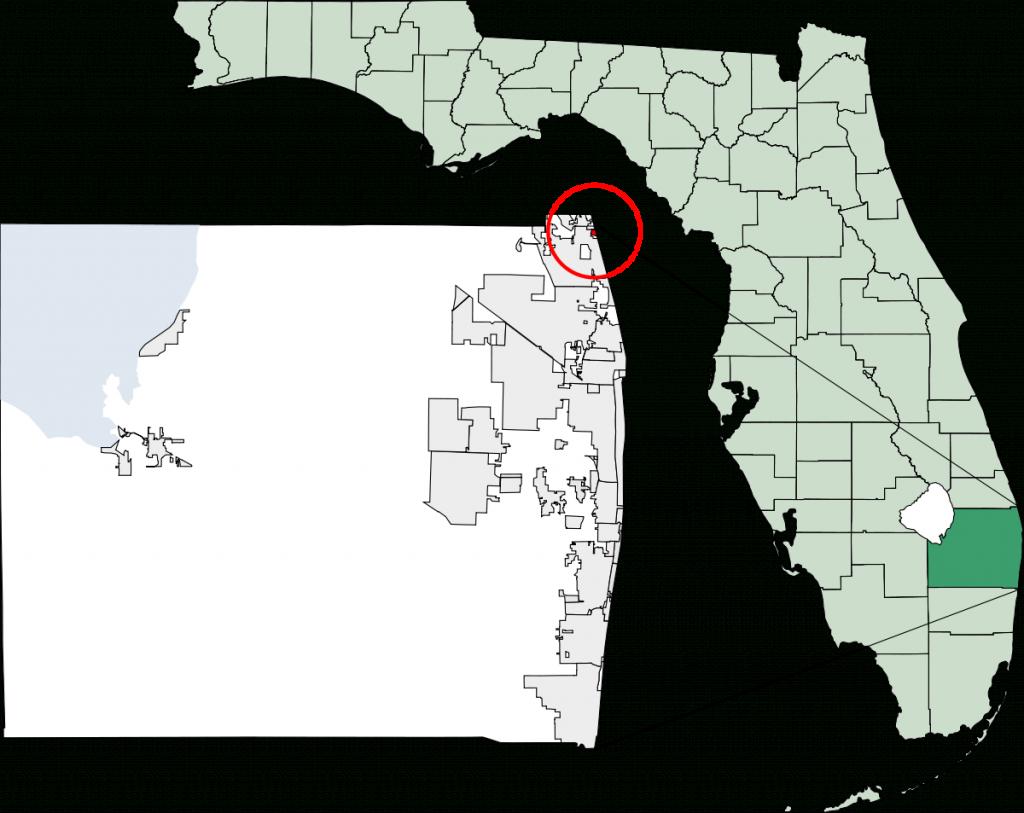 Jupiter Inlet Colony, Florida - Wikipedia - Jupiter Island Florida Map