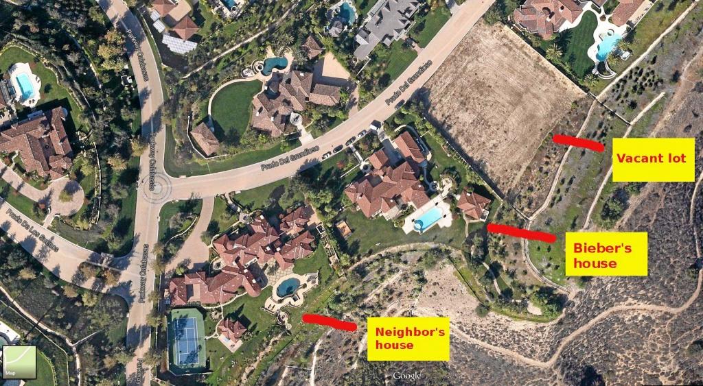 Justin Bieber Sentenced After No-Contest Plea In Calabasas Egg - Google Maps Calabasas California
