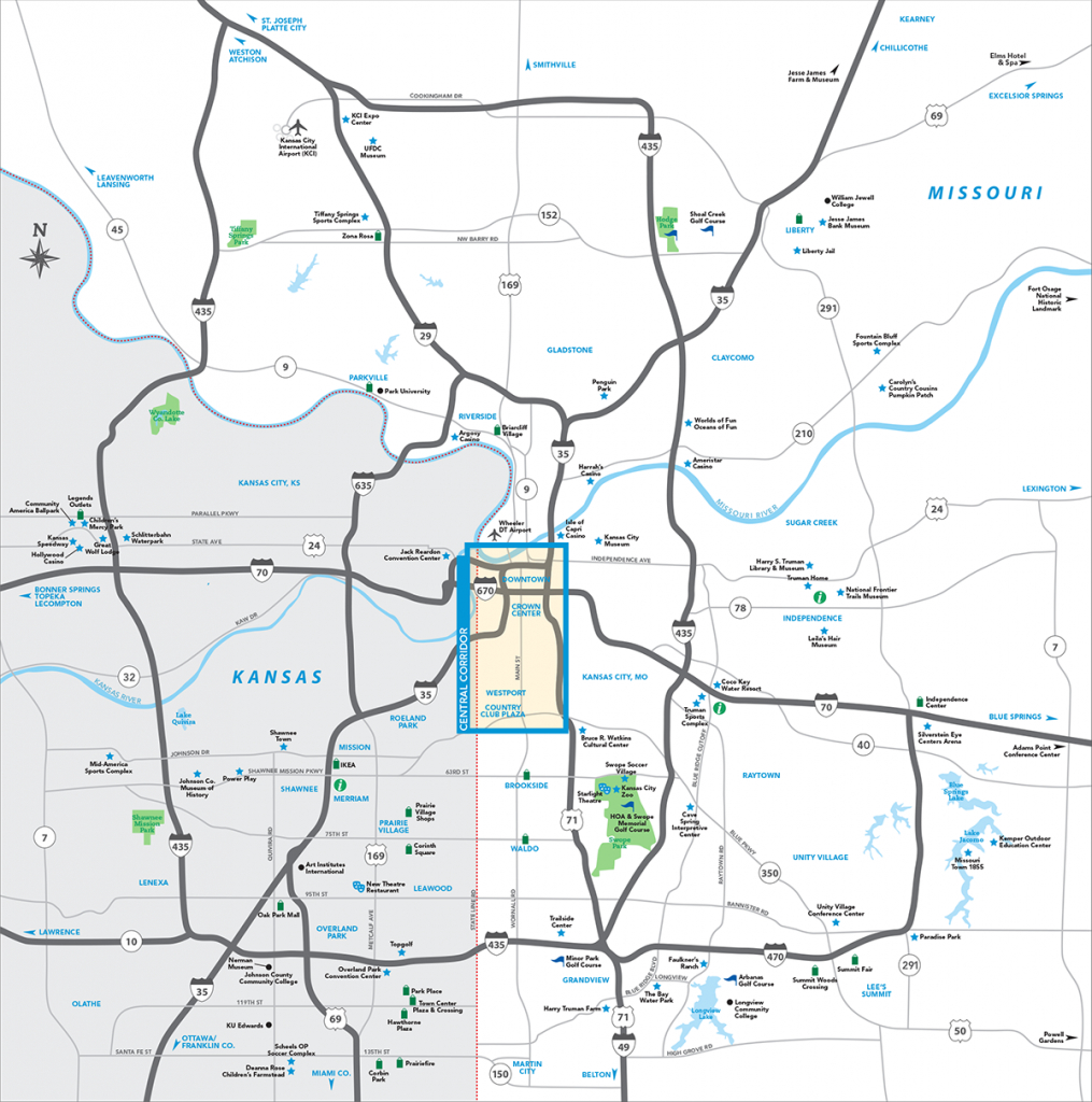 Kansas City Metro Map | Visit Kc - Printable Kansas Map With Cities
