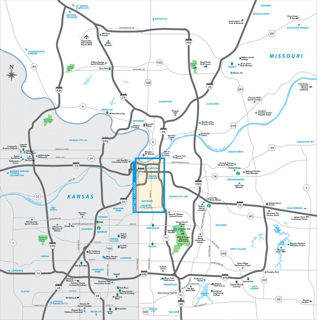 Kansas City Metro Map   Visit Kc - Printable Map Of Kansas