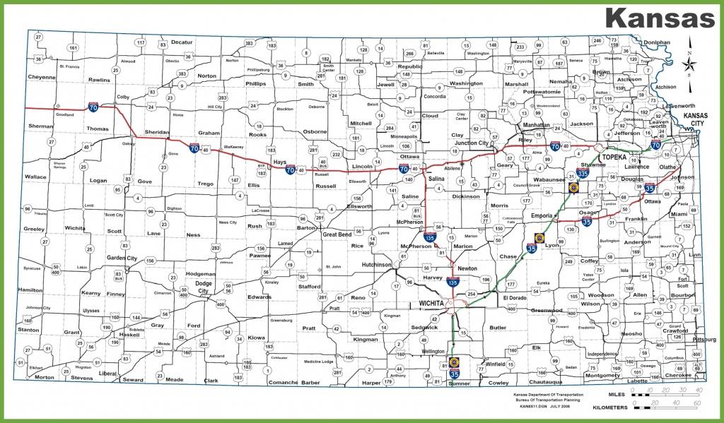 Kansas Road Map - Printable Map Of Kansas