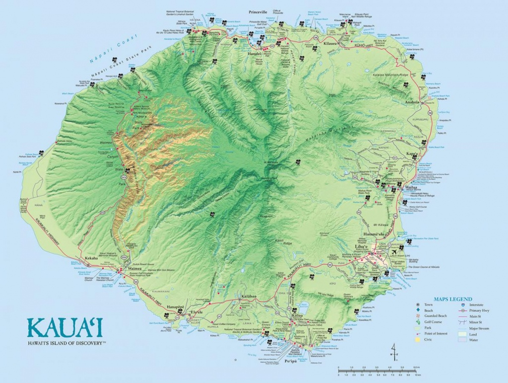 Kauai Island Maps & Geography | Go Hawaii - Printable Map Of Kauai Hawaii