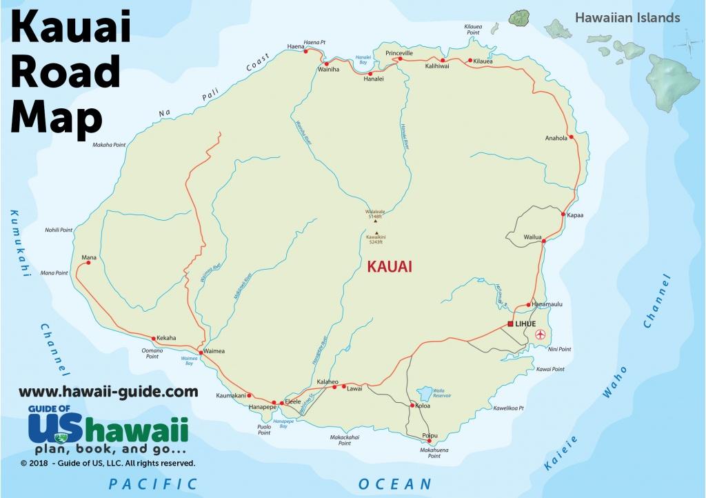 Kauai Maps - Printable Driving Map Of Kauai