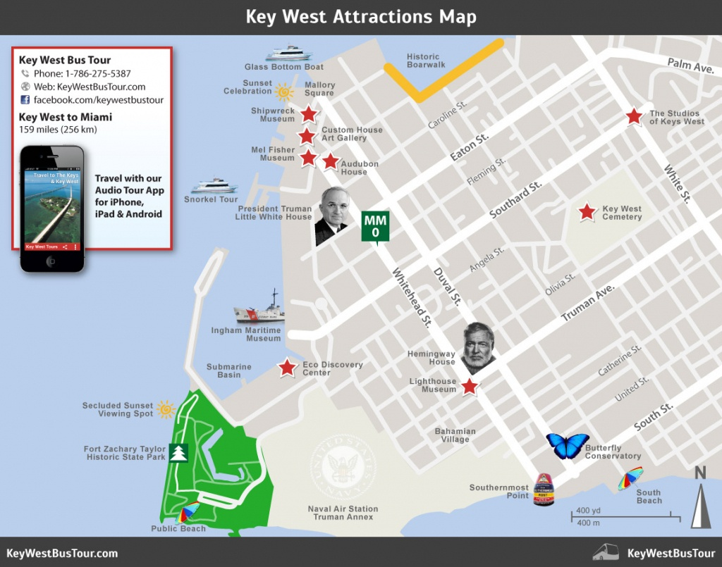 Key West Attractions Map :: Key West Bus Tour - Printable Map Of Key West