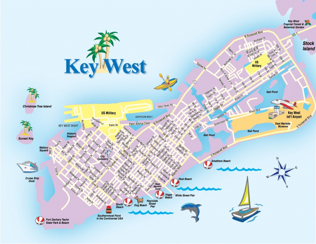 Key West Island Map - Destination - Map Of Hotels In Key West Florida