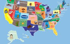 Kids United States Map 12 X 18 Classroom Art. $24.00, Via Etsy – Printable Us Map For Kids