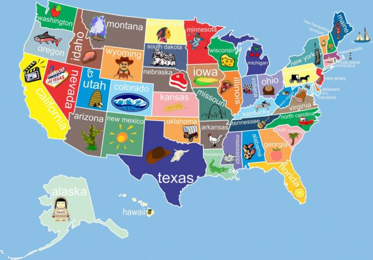 Printable Us Map For Kids
