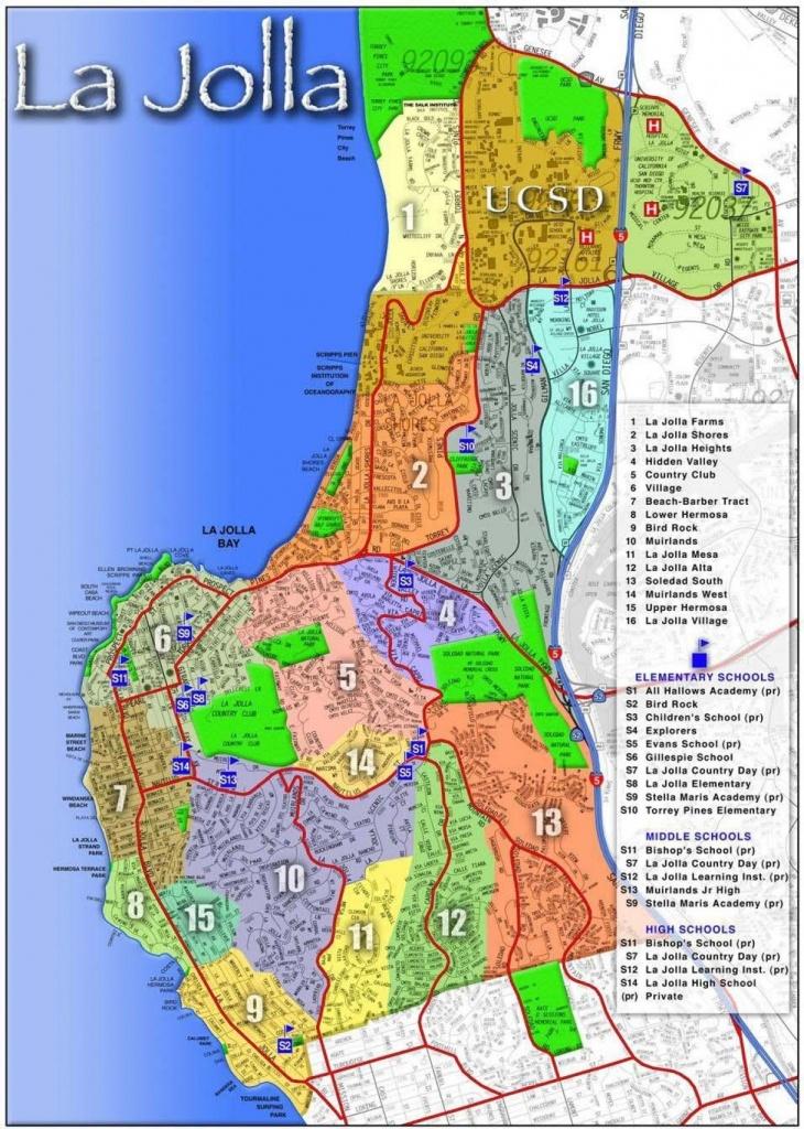 La Jolla Map - Map Of La Jolla (California - Usa) - La Jolla California Map