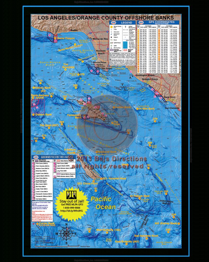 La / Orange County Offshore Banks - Baja Directions - Southern California Ocean Fishing Maps