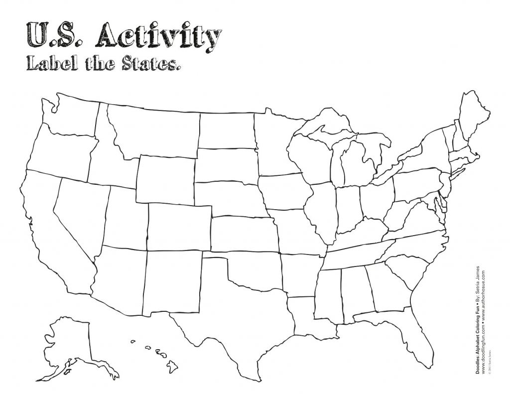 Label Map Of The Us Worksheet Blank Us Map Quiz Printable At Fill In - Us Map Quiz Printable