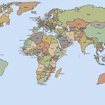 Labeled World Map Printable | Sitedesignco   Free Printable World Map With Countries Labeled For Kids