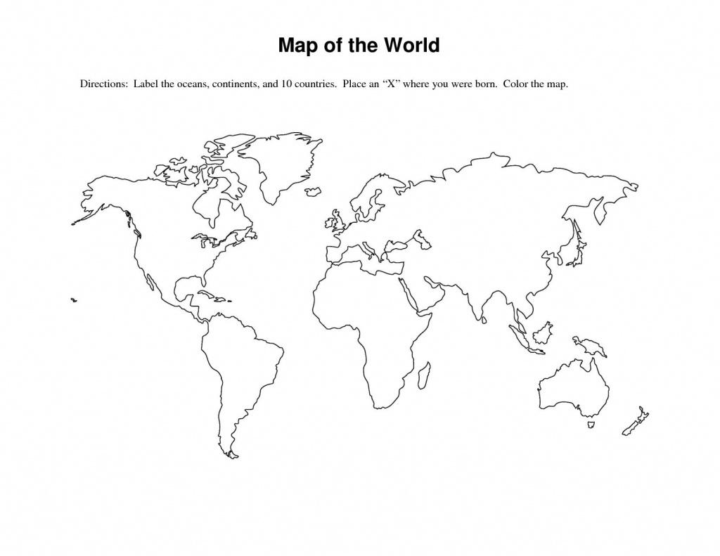 Labeled World Map Printable   Sksinternational - Basic World Map Printable