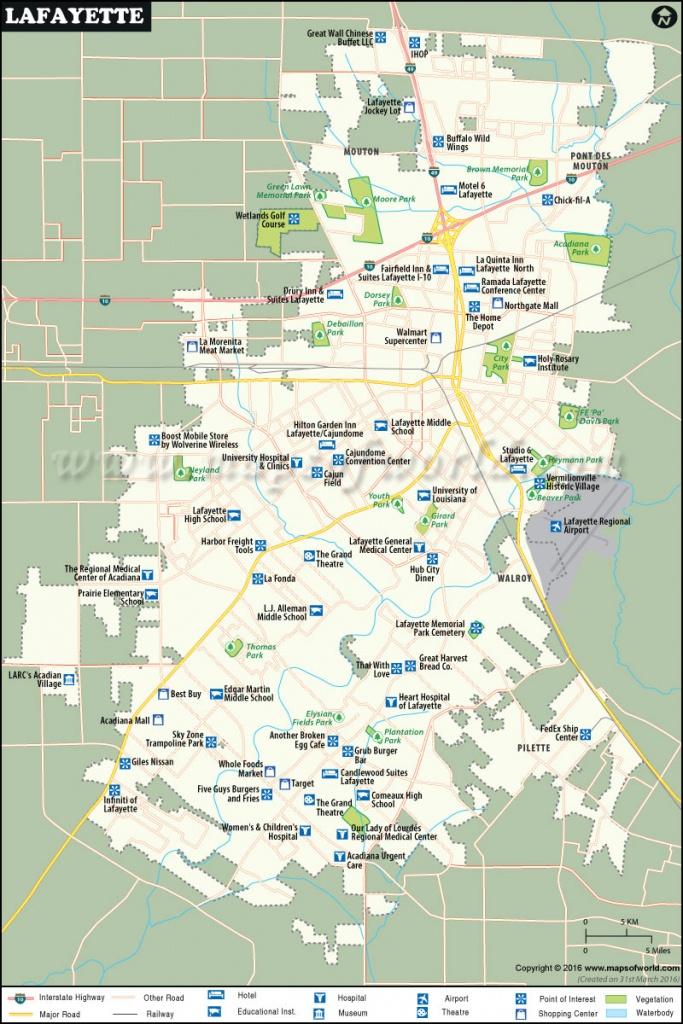 Lafayette Map  City Map Of Lafayette, Louisiana - Printable Map Of Lafayette La