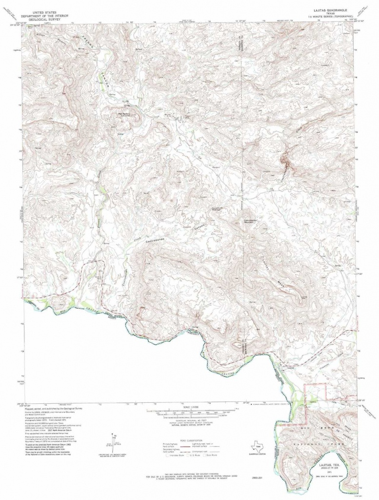 Lajitas Topographic Map, Tx - Usgs Topo Quad 29103C7 - Lajitas Texas Map