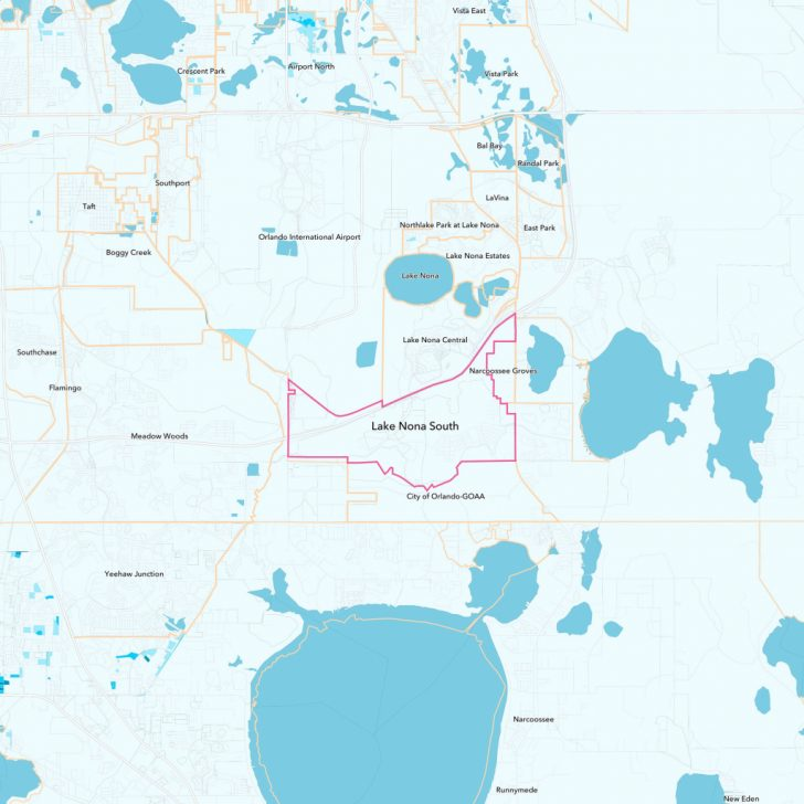 Lake Nona Florida Map