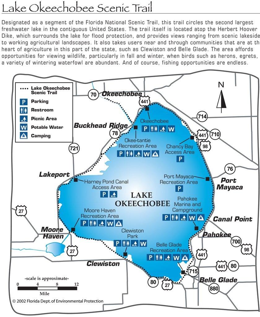 Lake Okeechobee Map And Travel Information | Download Free Lake - Fishing Map Of Lake Okeechobee Florida