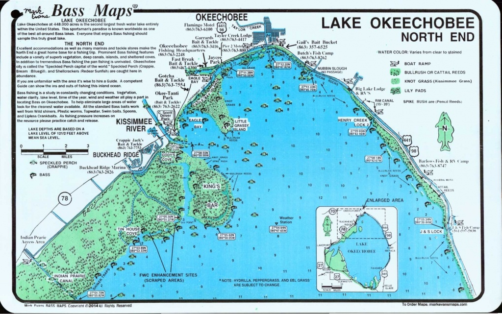Lake Okeechobee Map | Lake Okeechobee North (North End & Lakeport - Lake Okeechobee Florida Map