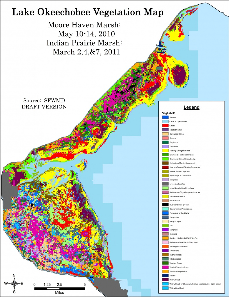 Lake Okeechobee Vegetation Map: 2010 - 2011 | South Florida Water - Lake Okeechobee Florida Map