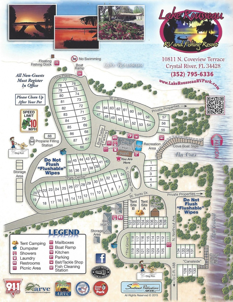 Lake Rousseau Rv Park - Map Of Rv Parks In Florida