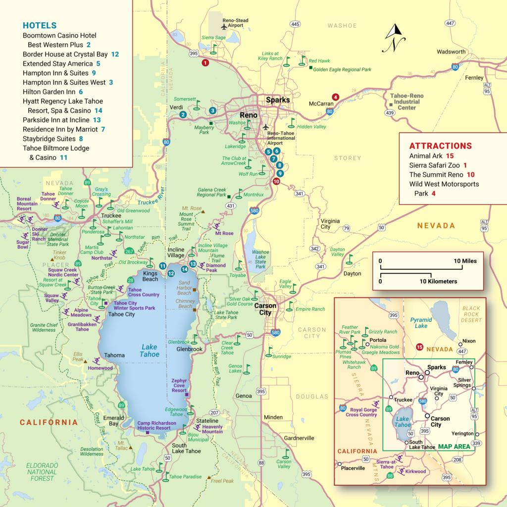 Lake Tahoe Maps And Reno Maps | Discover Reno Tahoe - Tahoe City California Map
