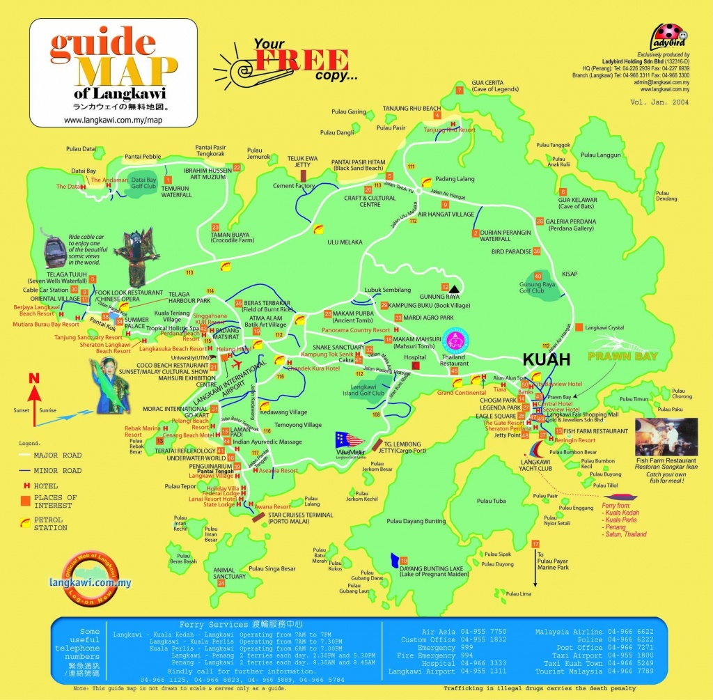 Langkawi Island Location Map- The Guide Of You To Travel At Langkawi - Melaka Tourist Map Printable