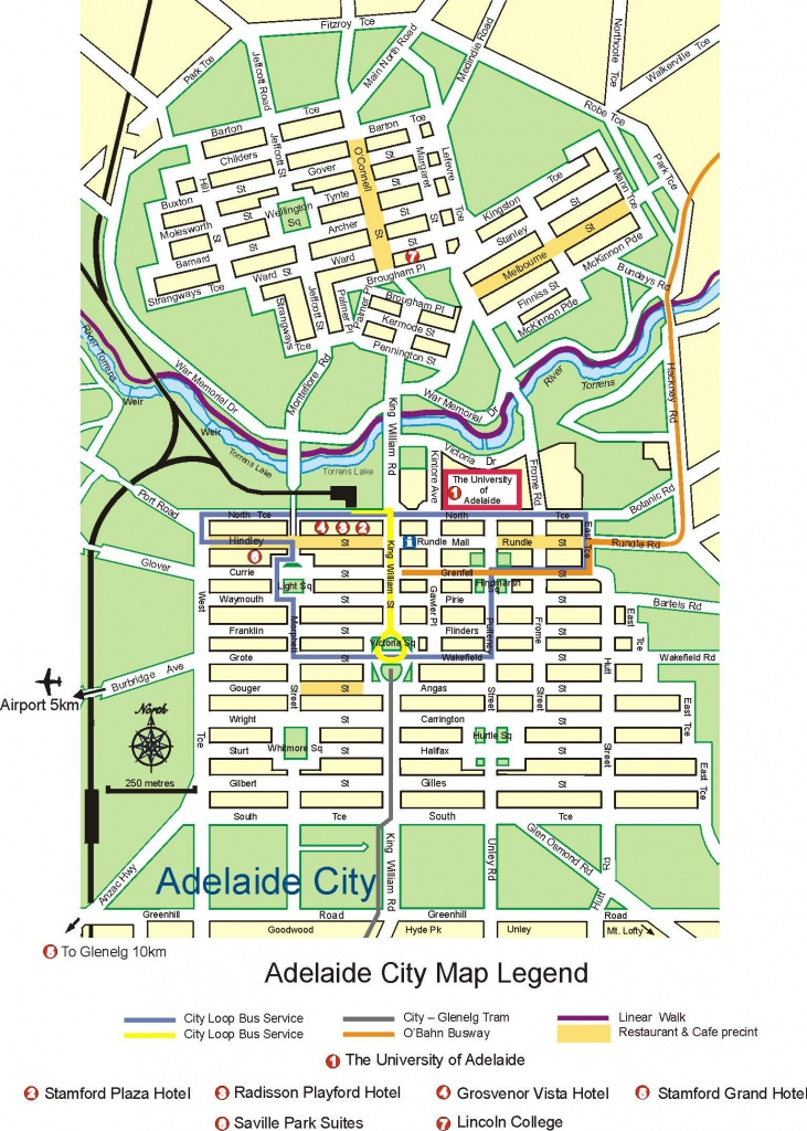 Large Adelaide Maps For Free Download And Print | High-Resolution - Printable Map Of Adelaide Suburbs