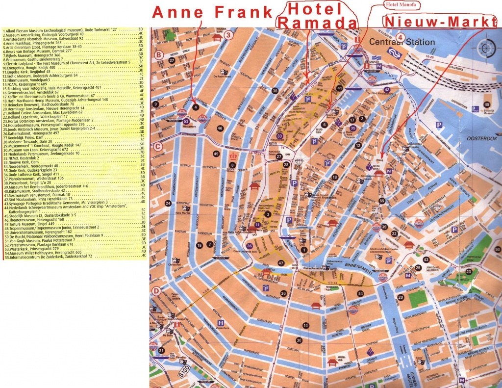 Large Amsterdam Maps For Free Download And Print | High-Resolution - Tourist Map Of Amsterdam Printable